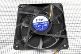Вентилятор для радиоаппаратуры  120х120х38 мм  24В  тахометр, 3 вывода