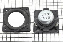 Динамик 2 ВТ-8 Ом  32х32х15 мм  алюминиевый гофр