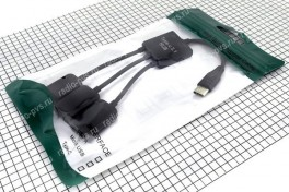 USB HAB OTG TYPE C х 2гн-USB А + гн-micro USB B