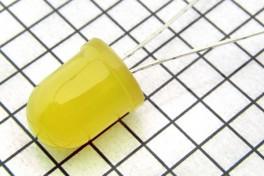 Светодиод  FYL-10003  жёлтый матовый  D-10 мм