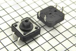 Кнопка мини 12х12 (KFC-012-H)  4 pin  горизонтальная  H- 7,3 мм
